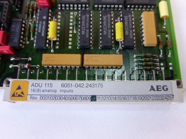 AEG ADU 115 6051-042.243175 16 (8) Analog Eingang Rev.10 фото на Industry-Pilot