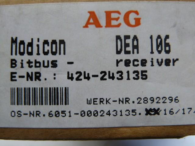 AEG Modicon DEA 106 Modnet 6051-042.243135 SFB-Ankopplung Bitbus receiver фото на Industry-Pilot