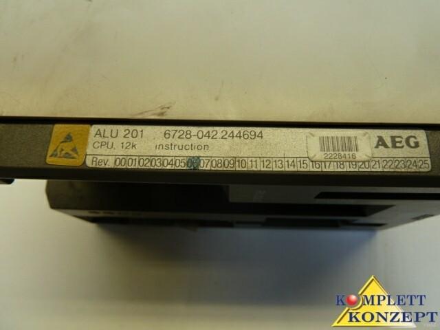 AEG Modicon SPS A120 ALU 201 CPU Zenraleinheit фото на Industry-Pilot