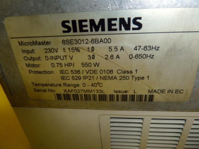 Модуль управления Siemens Simovert P 6SE3012-6BA00 Micro Master Frequenzumrichter 6SE3 012-6BA00 фото на Industry-Pilot