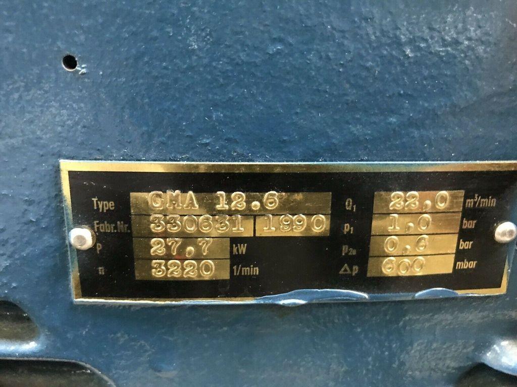 Kompaktgebläse GMA 12.6 Kompressor 22m³/min 1bar Verdichter Hoch-Vakuum Siemens фото на Industry-Pilot