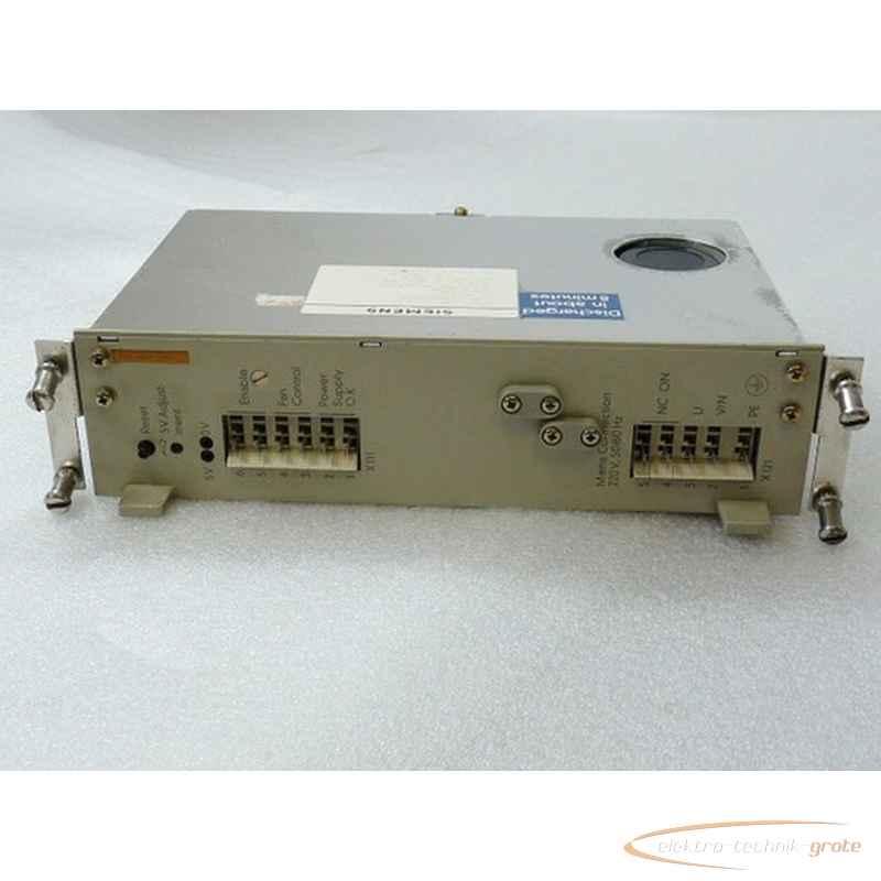 Блок питания Siemens 6EW1861-3AB Sinumerik EinbauInput AC 220 V 50 Hz Output DC 5 V - 15 A DC - - 15 V 0 , 5 A E Stand G фото на Industry-Pilot