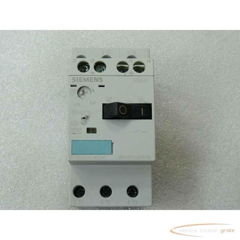 Siemens Siemens 3RV1011-0DA15 Sirius Leistungsschalter max 0 , 32A mit 3RV1901-1E Hilfsschalter фото на Industry-Pilot