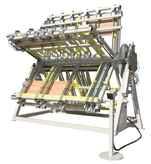 Gluing presses Verleimstern pneumatisch - Ausstellungsmaschine photo on Industry-Pilot