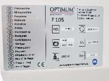 Machining Center - Vertical OPTIMUM OPTImill F 105 CNC photo on Industry-Pilot