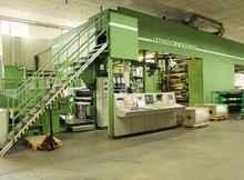 Flexographic printing press Fischer & Krecke heute Bobst F&K 34DF-8 8 Farben Zentralzylinder Flexodruckmasch photo on Industry-Pilot
